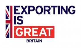 Exporting is GREAT logo with flag